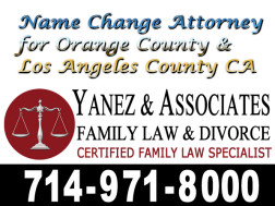 California Name Change Lawyer in Orange County