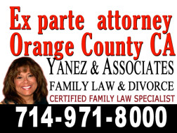 Ex parte attorney in Orange County CA
